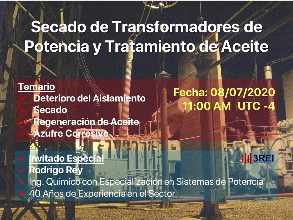 Secado de Transformadores de Potencia y Tratamiento de Aceite